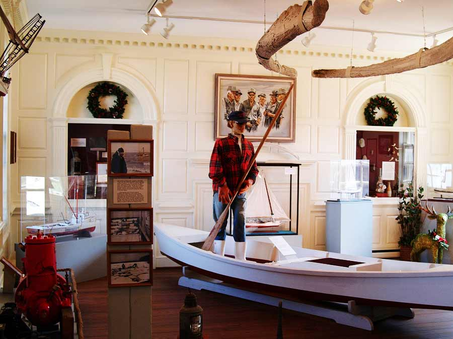 Exhibits at the Watermen's Museum in Yorktown, Va.